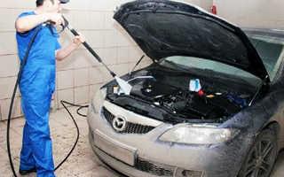 Как помыть двигатель автомобиля
