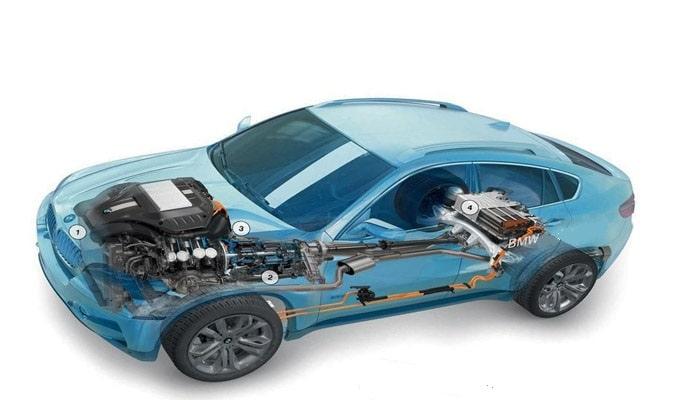 технические возможности гибрида BMW X6