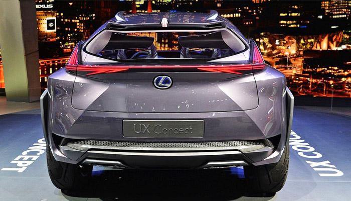 фото сзади Lexus UX