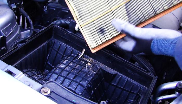 фото замена фильтра машины