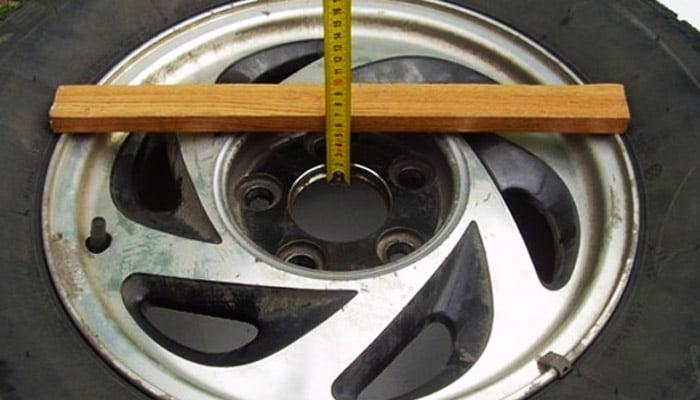 фото замера шины
