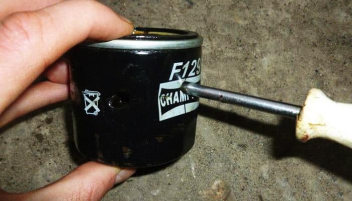 масляный фильтр с отверткой