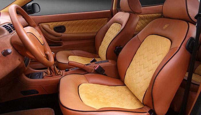 кожаный салон авто