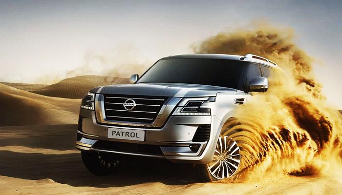 Nissan Patrol в песке