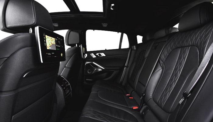 фото заднего ряда сидений гибридногоBMW X6