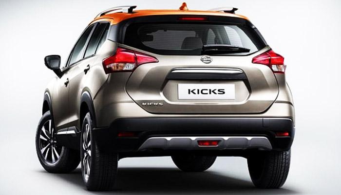 вид сзади Nissan Kicks