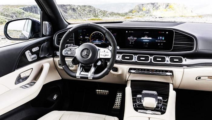 салон приборов Mercedes 63